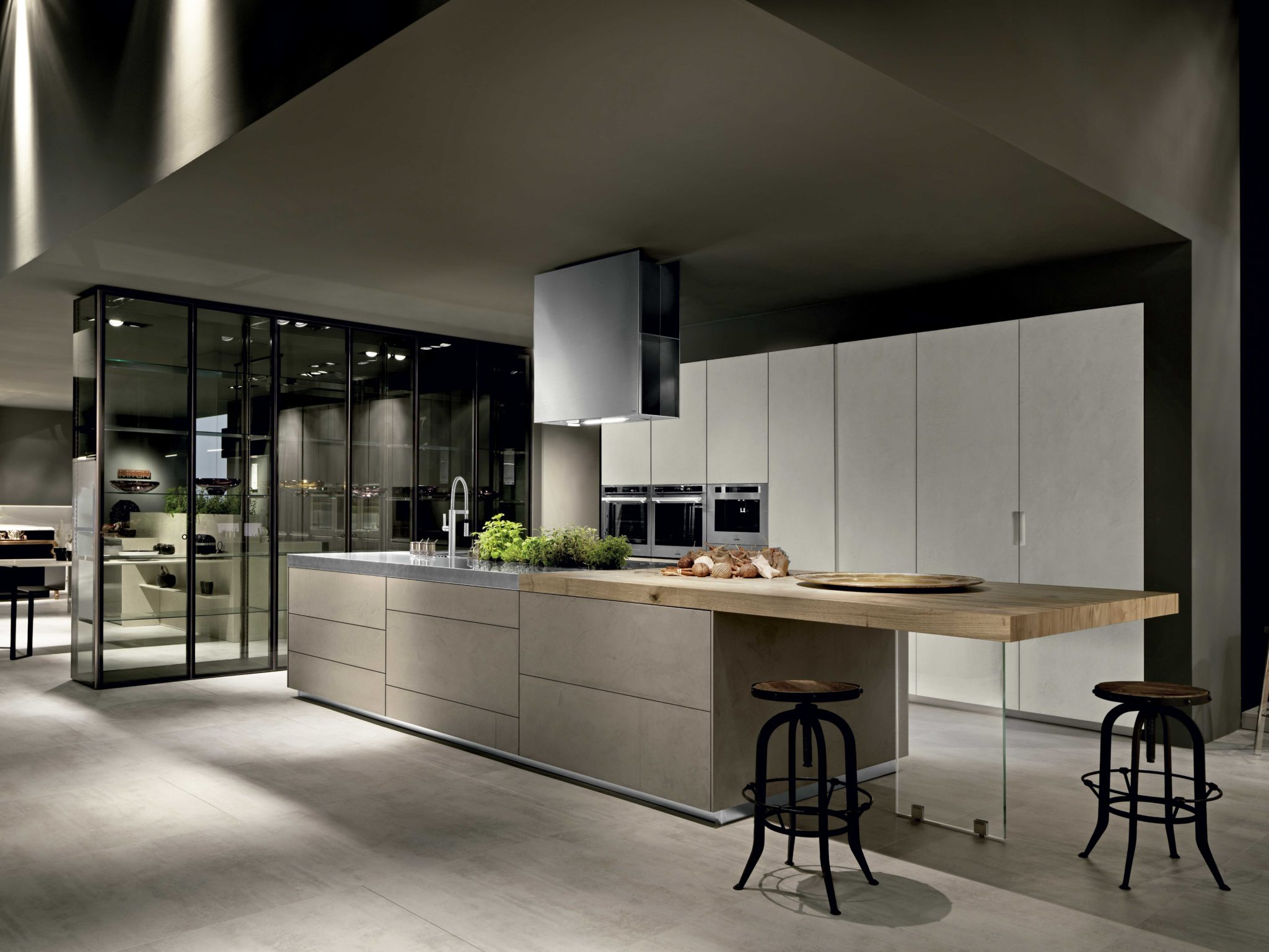 Kitchen cabinets Century City Set in the kitchen Limha cemento