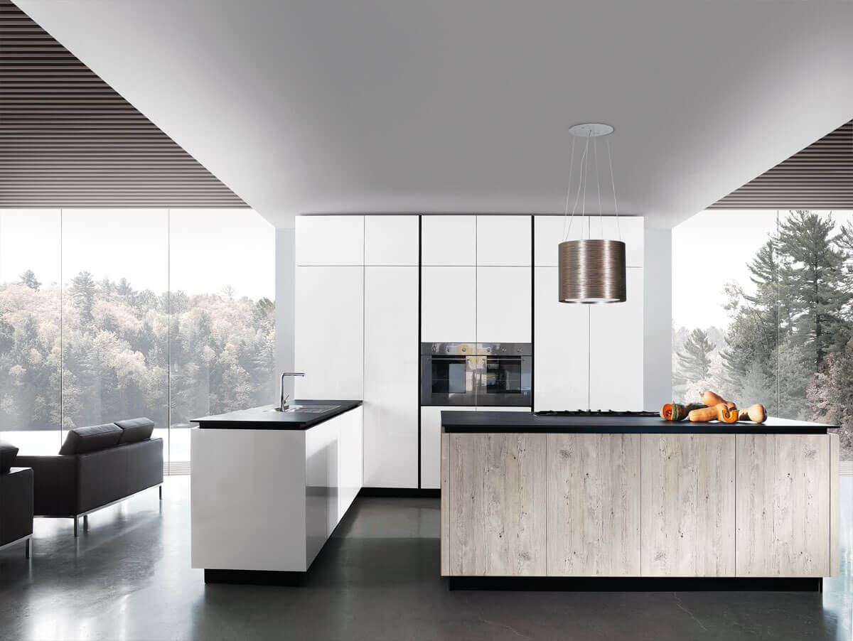 Limha glossy cover italian kitchen cabinets european for Kitchen cabinets 90045