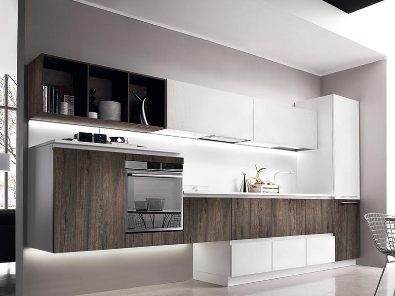 Modern Kitchen Miton H 78 81 Sincro Wood1 1 Italian